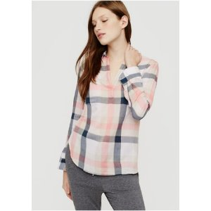 Plaid Pocket Pop-On Tunic