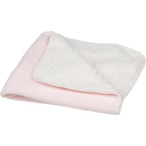 Petco Square Fleece Cat Throw in Pink and Cream, 24