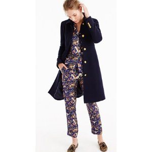LADY DAY COAT WITH GOLD BUTTONS