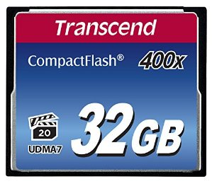 $23.99 Transcend 32GB CompactFlash Memory Card 400x