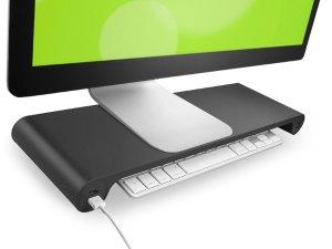 整洁桌面全靠它,$28.98 (原价$74.25)Quirky Spacebar显示屏底座(带6个USB接口)