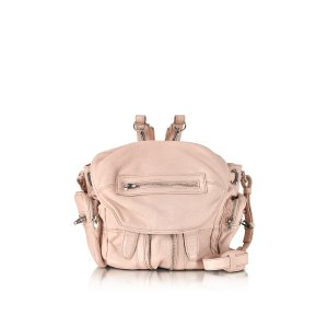 Alexander Wang Mini Marti Pale Pink Washed Leather Backpack at FORZIERI