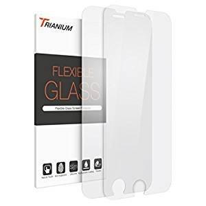 $0.91 iPhone 7 Screen Protector, Trianium(2 Pack) Soft Fiber Glass Film iPhone 7