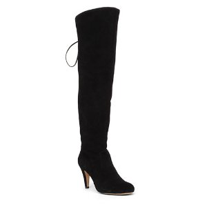 VINCE CAMUTO Cherline Lace-Up Leather Thigh-High Boots