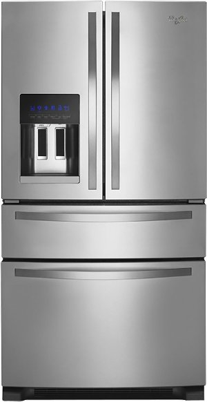 Whirlpool  25.0 Cu. Ft. French Door Refrigerator with Thru the Door Ice and Water Monochromatic Stainless Steel