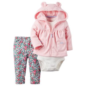Baby Girl 3-Piece Little Jacket Set