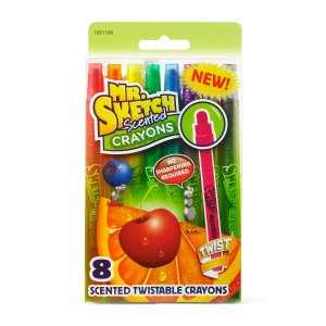 Mr. Sketch Scented Twistable Crayons, Assorted, 8-Pack
