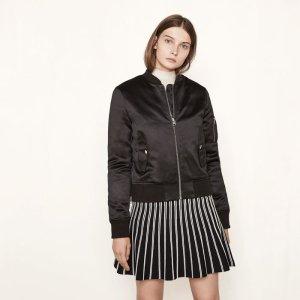 BART Satin bomber jacket - Coats & Jackets - Maje.com