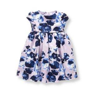 Baby Girl Lavender Floral Sateen Dress at JanieandJack
