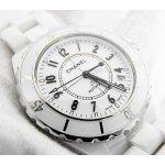 CHANEL J12 White Ceramic Automatic Midsize Watch