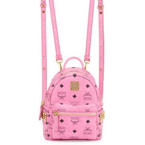 MCM Stark Side-Stud X-Mini Backpack, Pink