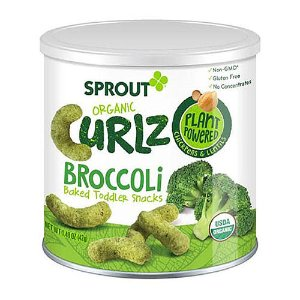 Sprout Organic Curlz Broccoli Baked Toddler Snacks - 1.43 Ounce - Sprout Foods - Babies