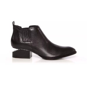 ALEXANDER WANG Kori Calf Leather Rhodium Boot