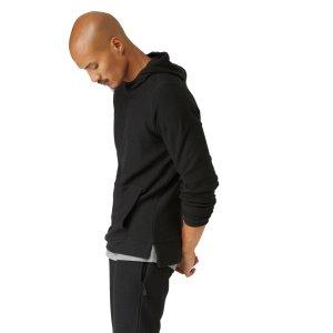 Frank + Oak SC Textured Fleece Hoodie In True Black   Frank + Oak