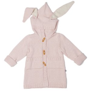 Bunny Toggle Sweater-Light Pink