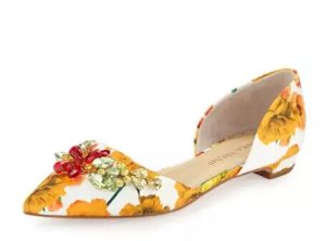 Ivanka Trump Trika Jeweled Floral d'Orsay Flat @ LastCall by Neiman Marcus