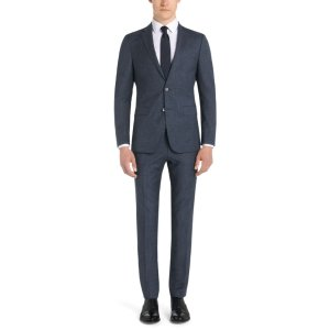 'Nortan/Benno' | Slim Fit, Virgin Wool Cotton Pinstripe Suit