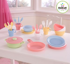 $7.97 Kidcraft 27 pc Cookware Playset - Pastel
