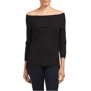 Marilyn Off The Shoulder Sweater - Pullovers - T.J.Maxx