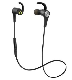 SoundPEATS Bluetooth Headphones Wireless 4.1 Magnetic Earbuds Stereo Earphones with Mic, Secure Fit for Sports