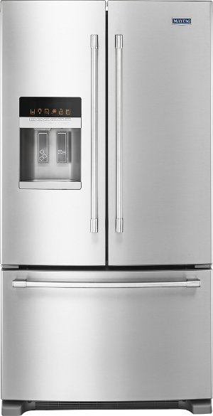 Maytag - 24.7 Cu. Ft. French Door Refrigerator - Stainless steel
