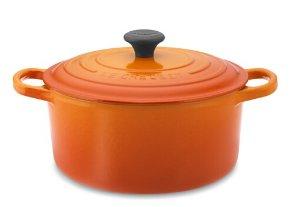 $179.95 Le Creuset Signature Cast-Iron Round Dutch Oven, 3 1/2-Qt., Flame