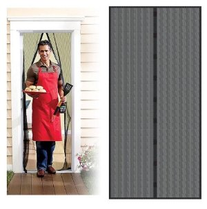 Trademark Home Auto Open and Close Magnetic Screen Door