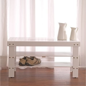 Pina Solid Wood Shoe Bench
