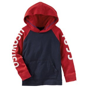 Kid Boy Hooded Raglan Logo Tee | OshKosh.com