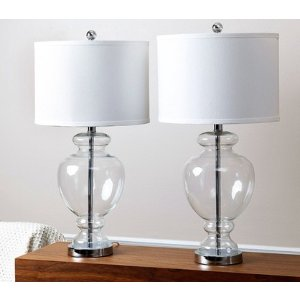 Burnham Clear Glass Table Lamp - Set of 2