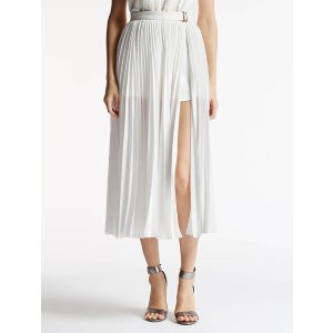 Pleated Skirt W Ponte Shorts