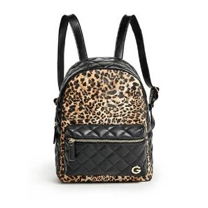 Sightseeing Leopard-Print Backpack | GbyGuess.com
