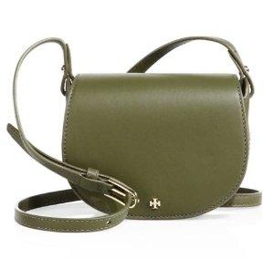 Tory Burch Mini Leather Saddle Bag
