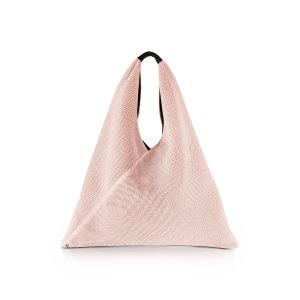 MM6 Maison Martin Margiela Pink Perforated Scuba Mesh Japanese Tote at FORZIERI