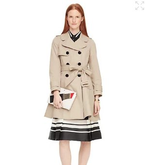 $261.75(reg.$498.00) kate spade classic twill trench coat