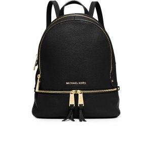 MICHAEL MICHAEL KORS Women's Rhea Zip Backpack - Black - Free UK Delivery over £50