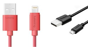 Free Android Cable [Apple MFi Certified] Lumsing 1M Lighting cable
