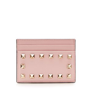 Leather Rockstud  Card Holder  from VALENTINO