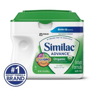 Similac Advance Organic, 34 Oz (Pack of 9)