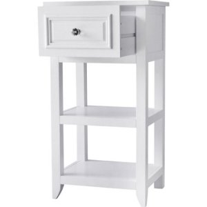 Prairie One Drawer Floor Cabinet, White
