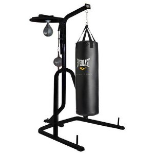 $165 Everlast Three-Station Heavy Duty Punching Bag Stand