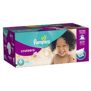 Amazon.com: Pampers Cruisers Diapers Economy Plus Pack, Size 6, 104 Count: Health & Personal Care
