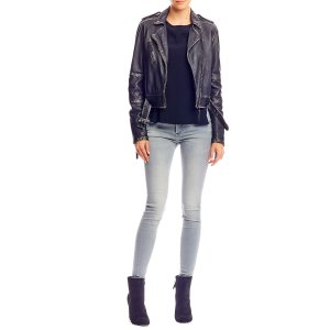 Distressed Leather Jacket |