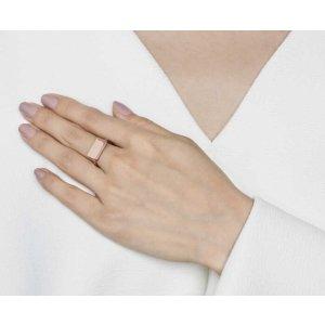 Rose Gold Rectangle Signet Ring