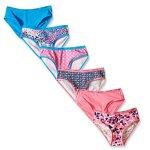 Calvin Klein Girls' Multicolor Bikini (Pack of 6)