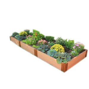 Frame It All Two Inch Series 4 ft. x 12 ft. x 11 in. Composite Raised Garden Bed Kit-300001075 - The Home Depot
