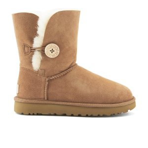 UGG Women's Bailey Button II Sheepskin Boots - Chestnut - FREE UK Delivery