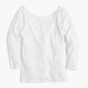 Scoopback Ballet女士圆领长袖T恤衫