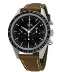 $3450 OMEGA LIMITED 50TH ANNIVERSARY EDITION Speedmaster Moonwatch Black Dial Brown Leather Men's Watch 31132403001001