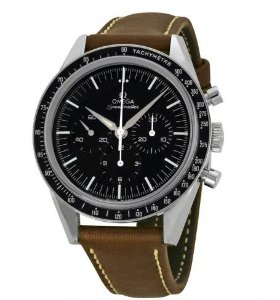 OMEGA LIMITED 50TH ANNIVERSARY EDITION Speedmaster Moonwatch Black Dial Brown Leather Men's Watch 31132403001001